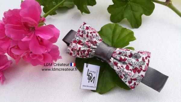 nœud-papillon-enfant-garçon-bebe-gris-rose-mariage-original-style-chic-Jean-LDM-créateur-ldmcreateur