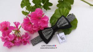 nœud-papillon-enfant-ado-garçon-chic-noir-original-mariage-cérémonie-soirée-Victor-LDM-Createur-ldmcreateur