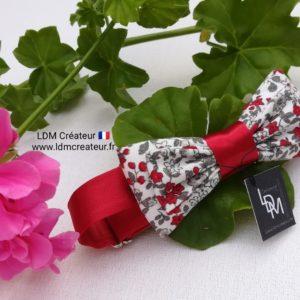 nœud-papillon-enfant-garçon-ado-bébé-rouge-gris-blanc-liberty-champêtre-mariage-Alain-ldmcreateur-LDM-créateur