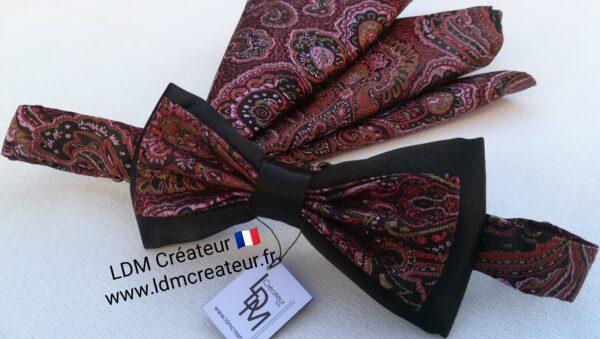 Noeud-papillon-rose-mariage-original-homme-createur-Dinan-ldmcreateur