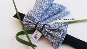 Noeud-papillon-mariage-bleu-pochette-marie-homme-accessoire-boheme-Frehel-ldmcreateur