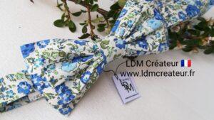 Noeud-papillon-Beaugency-blanc-bleu-vert-invites-mariage-mariee-liberty-ldmcreateur