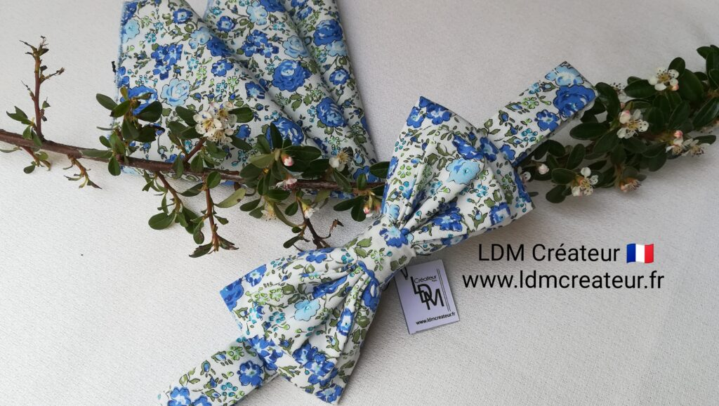 Noeud-papillon-vert-blanc-bleu-mariage-ceremonie-cortege-chic-Beaugency-ldmcreateur