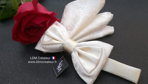 Noeud-papillon-blanc-ecru-ivoire-mariage-costume-homme-chemise-chic-smoking-Dampierre-ldmcreateur