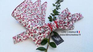 Noeud-papillon-gris-rose-rouge-blanc-champetre-fleuri-liberty-homme-marie-Aix-ldmcreateur