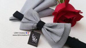 Noeud-papillon-mariage-bleu-marine-blanc-marie-costume-pochette-Oloron-ldmcreateur