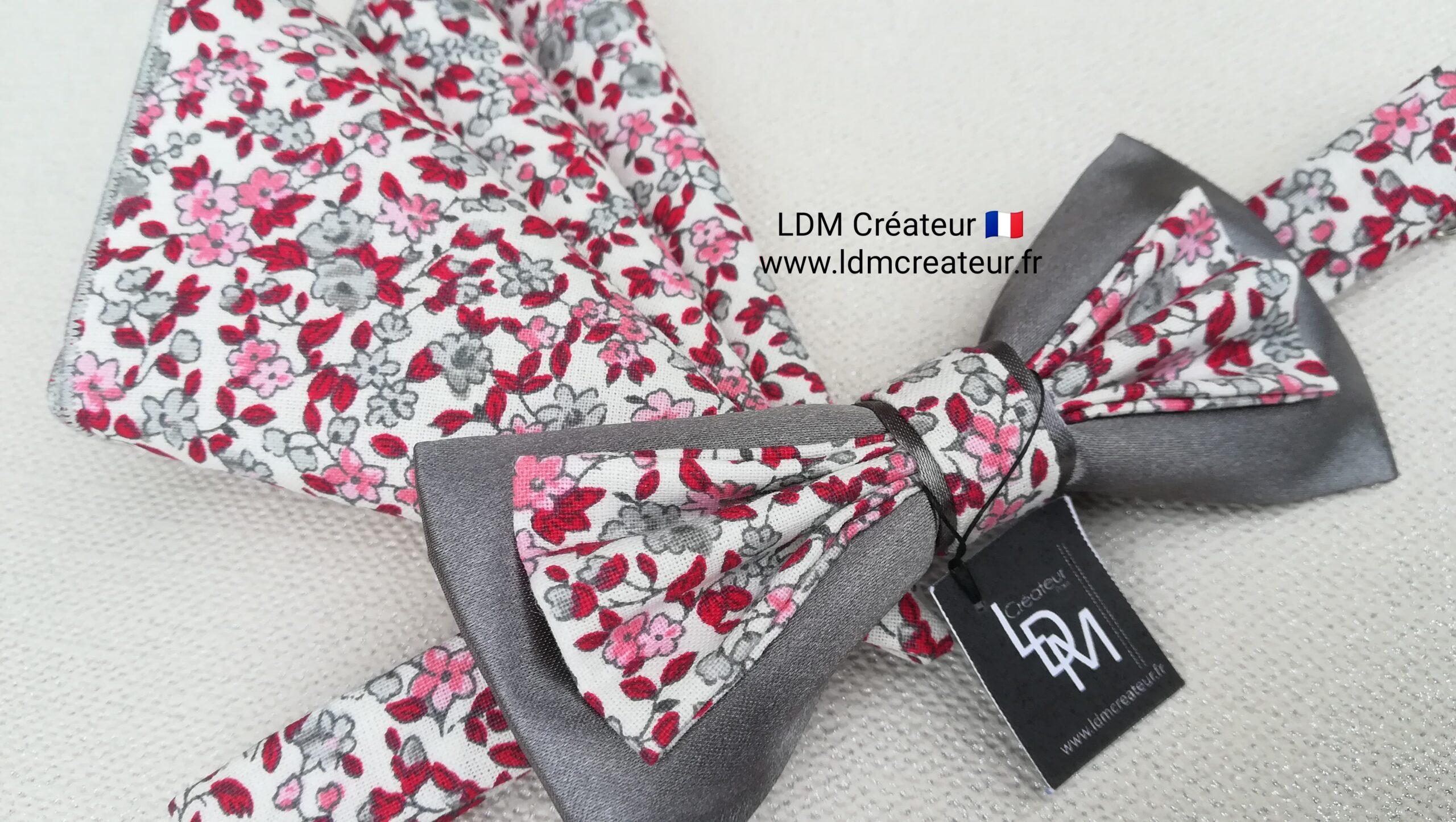 Noeud-papillon-rose-gris-rouge-homme-mariage-cérémonie-original-stylé-Montresor-ldmcreateur