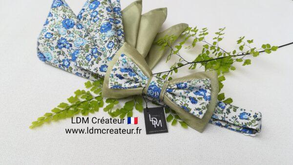 Mariage-noeud-papillon-homme-marié-blanc-vert-bleu-romantique-ceremonie-occitanie-ldmcreateur