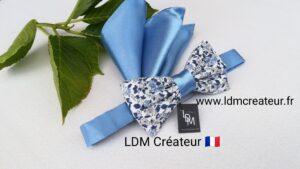 Noeud-papillon-bleu-mariage-champetre-blanc-liberty-blanc-boheme-chic-champetre-Willer-ldmcreateur