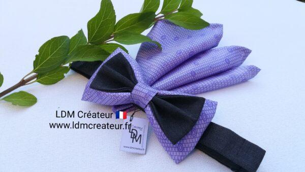 Noeud-papillon-parme-homme-mariage-ceremonie-soie-pochette-original-chic-Urville-ldmcreateur